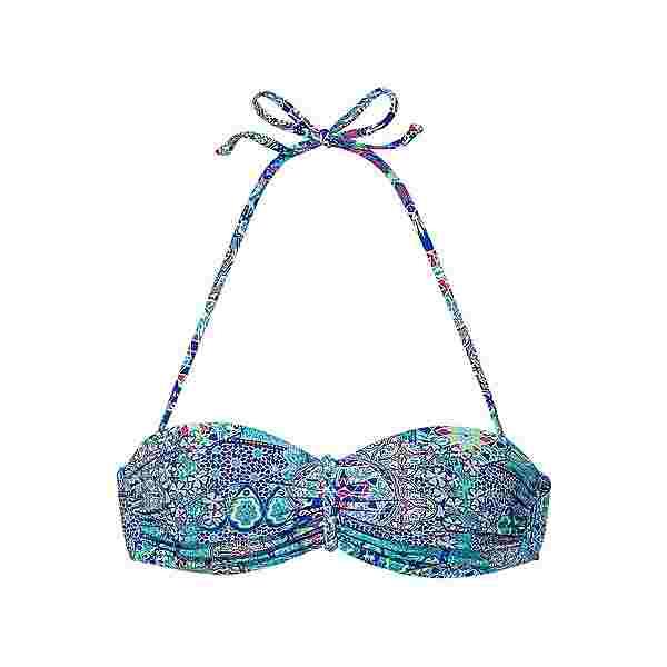 Buffalo Bikini Oberteil Damen türkis-bedruckt