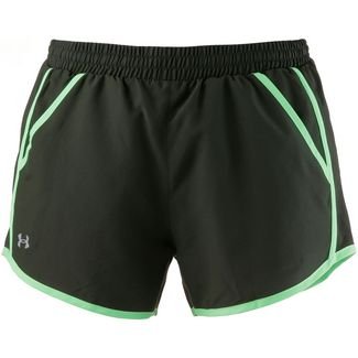Under Armour Fly Laufshorts Damen artillery green-green typhoon-reflective