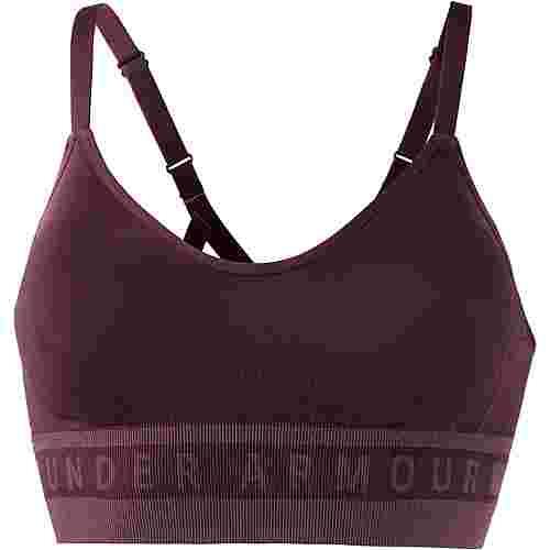 Under Armour Seamless Longline Sport-BH Damen dark maroon