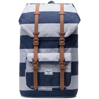 Herschel Rucksack Little America Daypack border stripe-saddle brown