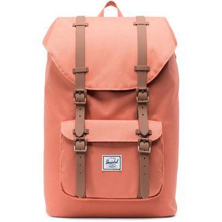 Herschel Rucksack Little America Mid-Volume Daypack apricot brandy-saddle brown