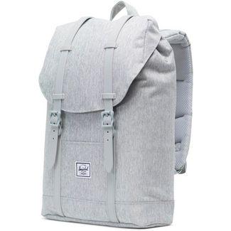Herschel Rucksack Retreat Mid-Volume Daypack light grey crosshatch-grey rubber