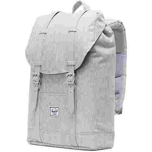 Herschel Rucksack Retreat Mid-Volume Daypack light grey crosshatch-grey rubber