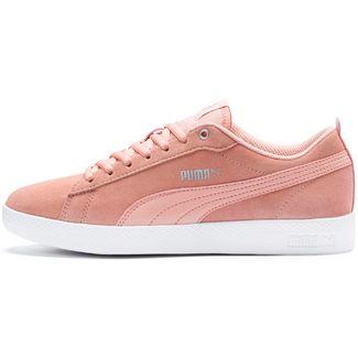 PUMA Smash V2 SD Sneaker Damen peach bud-silver-puma white