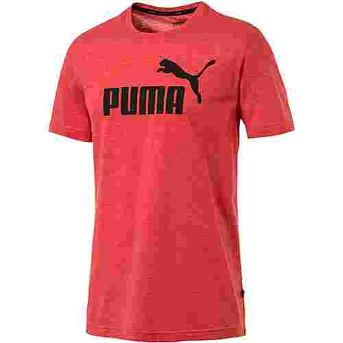 PUMA ESS T-Shirt Herren high risk red heather