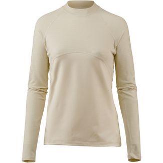 Nike Pro Funktionsshirt Damen light cream/metallic gold
