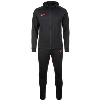 Nike Dry Squad Trainingsanzug Herren schwarz / rot