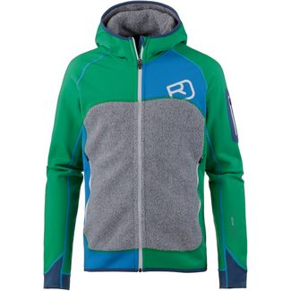 ORTOVOX Plus Merino Fleecejacke Herren irish green