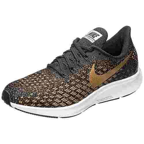 Nike Air Zoom Pegasus 35 Laufschuhe Damen schwarz / gold