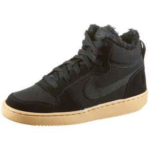 Nike Court Borogh Sneaker Kinder black-black-gum lt brown
