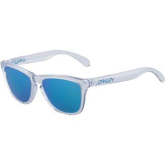 Oakley Frogskins Sonnenbrille crystal clear/prizm sapphire