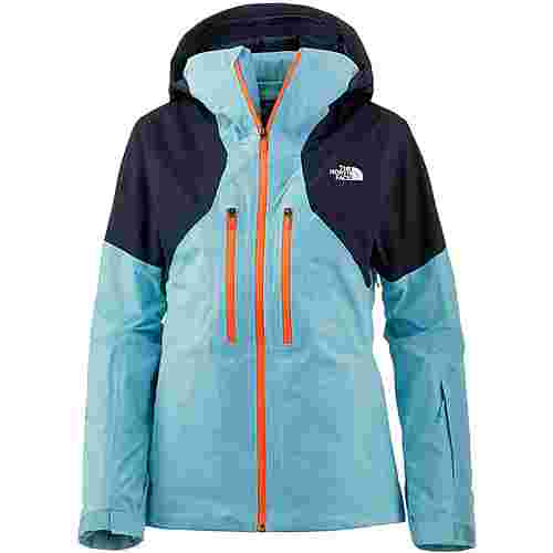 The North Face Powder Skijacke Damen trnsantarcticblu-urbnnavy