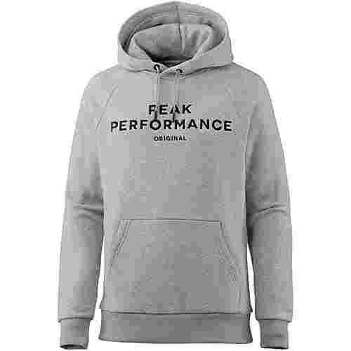 Peak Performance Hoodie Herren med grey mel