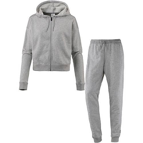 Reebok Elements Trainingsanzug Damen medium grey heather im Online Shop von SportScheck kaufen