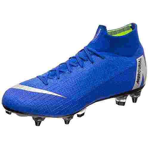 Nike Mercurial Superfly VI Elite DF AC Fußballschuhe Herren blau / silber