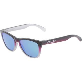 Oakley Frogskins Prizm Sapphire Sportbrille black pink fade silver