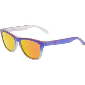 Oakley Frogskins Prizm Ruby Sportbrille pink blue fade silver