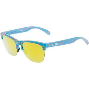 Oakley Frogskins Lite Splatter Fire Iridium Sportbrille sky blue