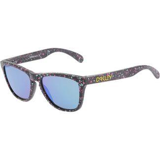 Oakley Frogskins Splatter Prizm Sapphire Sportbrille polished black
