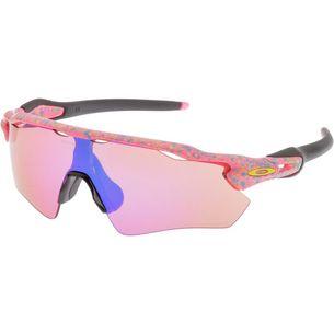 Oakley Radar EV Path Splatter Prizm Trail Sportbrille neon pink