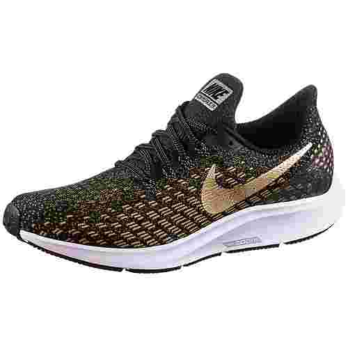 Nike Air Zoom Pegasus 35 Laufschuhe Damen black-metallic-platinum ...