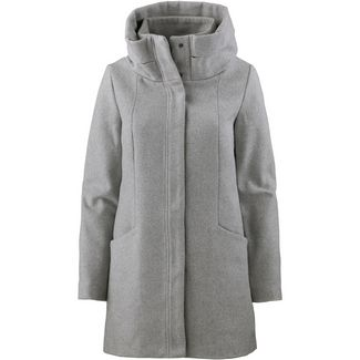 TOM TAILOR Wollmantel Damen light silver grey mélange