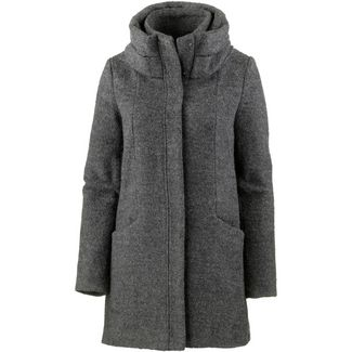 TOM TAILOR Wollmantel Damen light tarmac grey mélange
