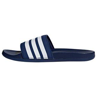 adidas Cloudfoam Plus Stripes Adilette Sandalen Herren Dark Blue / Ftwr White / Dark Blue