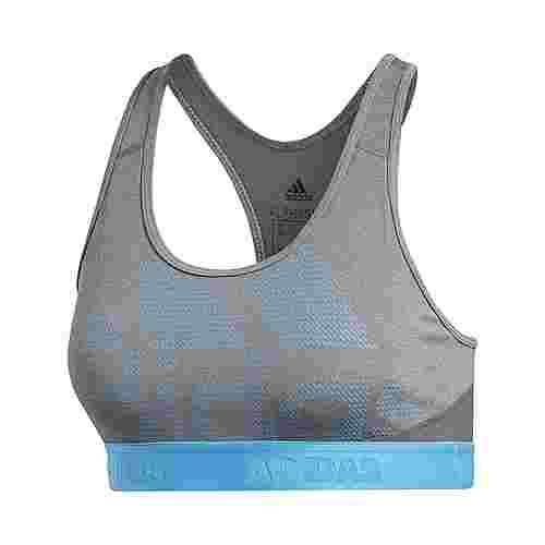 adidas Don't Rest Alphaskin Sport-BH Sport-BH Damen Dark Grey Heather / Grey Four