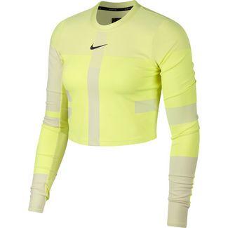 Nike Tech Pack Laufshirt Damen volt-light cream-reflective silver
