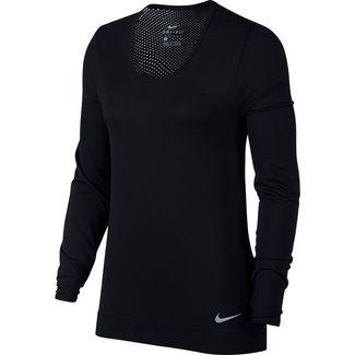 Nike Infinite Laufshirt Damen black-reflective silver