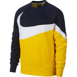 Nike Netz Oberteil Pullover Herren Gelb NEU
