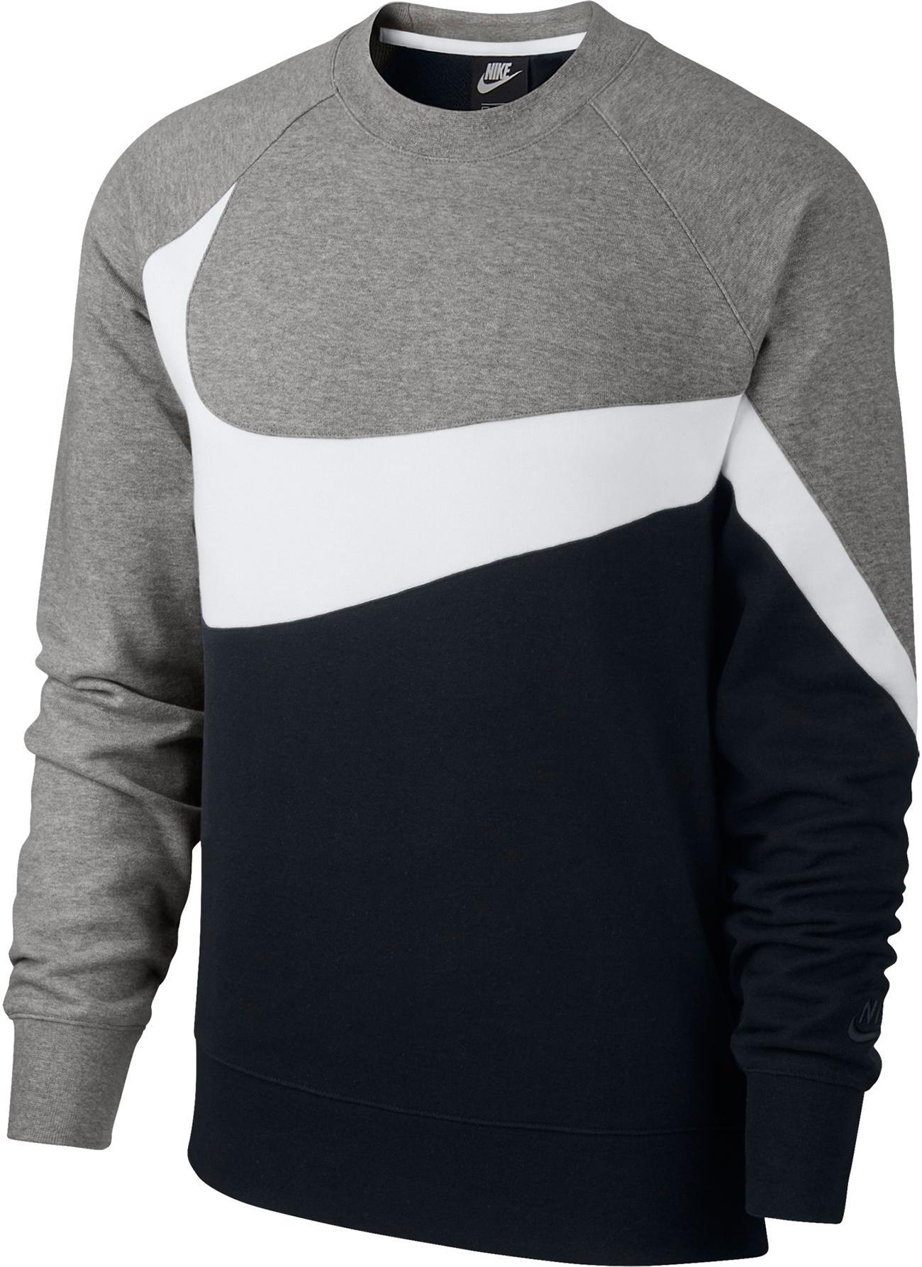 pullover \u0026 sweats f�r herren im online shop von sportscheck kaufen  nike nsw sweatshirt herren black white dark grey heather