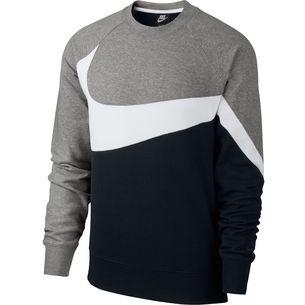 Nike NSW Sweatshirt Herren black-white-dark grey heather