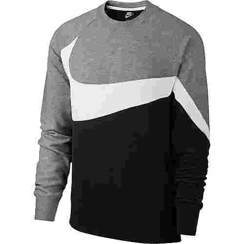Nike NSW Sweatshirt Herren black-white-dark grey heather