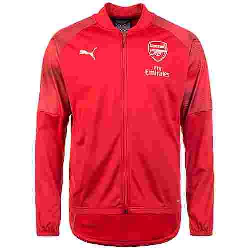 PUMA Arsenal London Stadium Sweatjacke Herren rot / dunkelblau