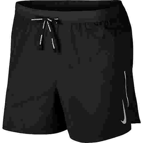 Nike Flex Stride 5IN Laufshorts Herren black-metallic silver