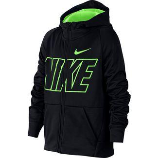 Nike Therma Sweatjacke Kinder black-lime-blast-lime-blast