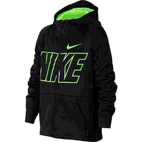 Nike Therma Sweatjacke Kinder black-lime-blast-lime-blast