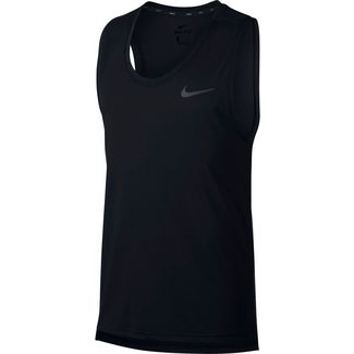 Nike Breathe Hyper Dry Funktionstank Herren black heather-mtlc hematite