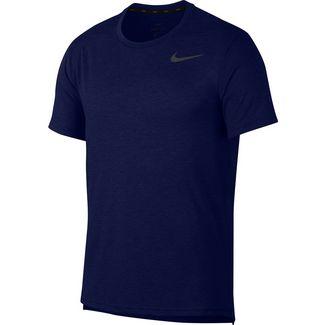 Nike Breathe Hyper Dry Funktionsshirt Herren blue void-htr-black