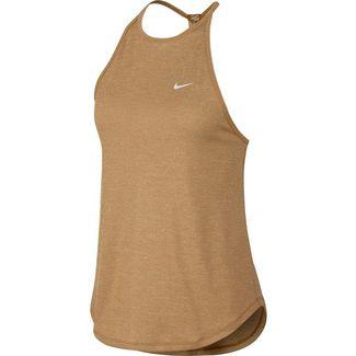 Nike Dry Elastika Funktionstank Damen wheat-white