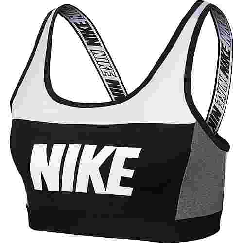 Nike Sport Distort Classic Sport-BH Damen white-carbon heather-black