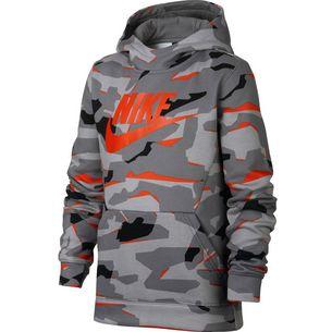 Nike Sweatshirt Kinder gunsmoke-white