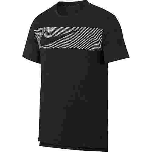 Nike Breathe Hyper Dry GFX Funktionsshirt Herren black heather-white