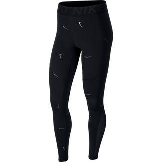 Nike Metallic Swoosh Tights Damen black