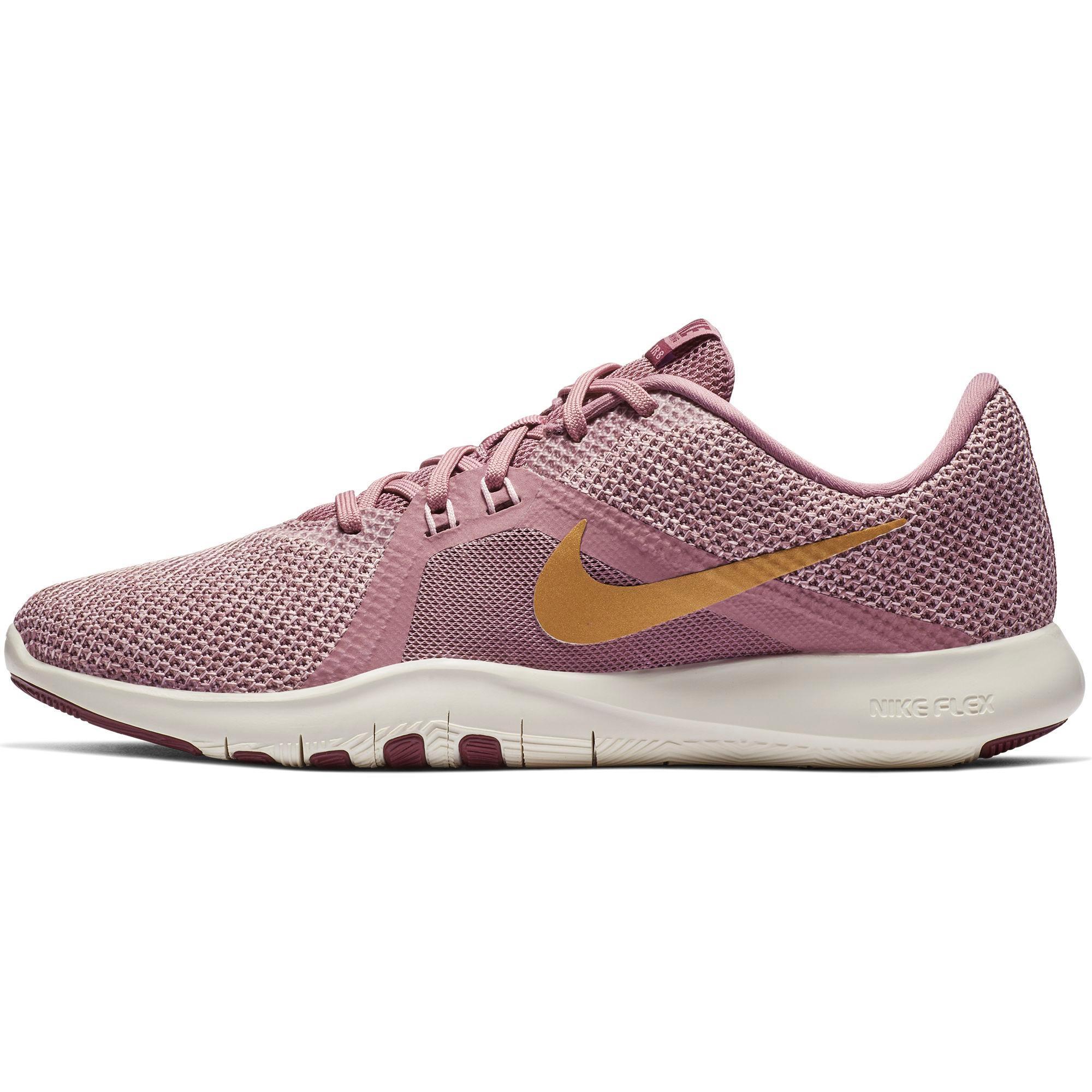 Nike Flex Trainer 8 Fitnessschuhe Damen plum dust-met element gold-pink  foam im Online Shop von SportScheck kaufen