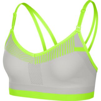 Nike Flyknit Indy Sport-BH Damen vast grey-volt