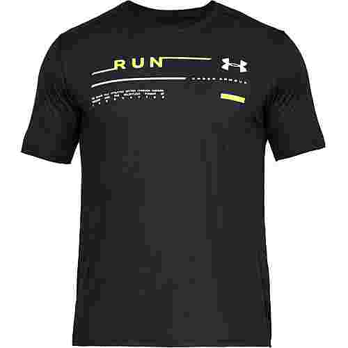 Under Armour RUN GRAPHIC Laufshirt Herren black
