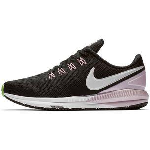 5f42e6d5290 Nike Air Zoom Structure 22 Laufschuhe Damen black-vast grey-pink foam-lime